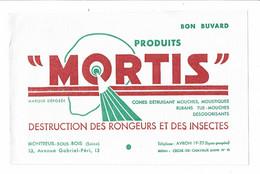 Buvard LES PRODUITS MORTIS Destruction Des Rongeurs Et Des Insectes Montreuil Sous Bois - M