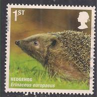 GB 2010 QE2 1st Mammals ' Hedgehog ' Used SG 3063 ( G1369 ) - Gebraucht