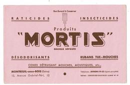 Buvard LES PRODUITS MORTIS Désodorisants Rubans Tue Mouches  Montreuil Sous Bois - M