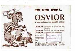 Buvard OSVIOR Une Mine D'or âne à La Lessive AVOGADRO Remiremont Vosges - Animals