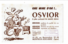 Buvard OSVIOR Une Mine D'or Lapin Photographe Radio Musique Oiseau AVOGADRO Remiremont Vosges - Animals