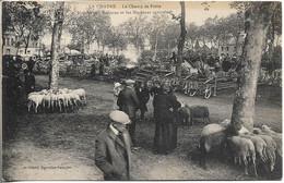 36. LA CHATRE. LE CHAMP DE FOIRE. MARCHE AUX MOUTONS ET MACHINES AGRICOLES. 1933. - La Chatre