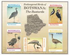 2017 Botswana The Bustards Souvenir Sheet MNH - Botswana (1966-...)