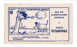 Buvard VITANIMAL Alimentation Animale Illustré ROB Enfant Vache Taureau Imprimerie Lorelle Ruffec - Animals