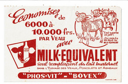 Buvard MILK EQUIVALENT Phos Vit Bovex Remplaçant Du Lait Veau Porcelet Agneau - Animals