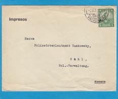 DRUCKSACHE AUS VALPARAISO AN EINEM POLIZEIOBERLEUTNANT IN SUHL,DEUTSCHLAND.1931. - Chili