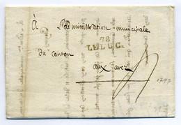 78 LE LUC  ( 25x9) / Dept Du Var   / 1797 / Ecrite Par L'administration Municipale De Le Luc / Période Révolution - 1701-1800: Precursores XVIII