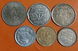 Lot De 6 Monnaies Du Népal à Saisir /07 - Nepal