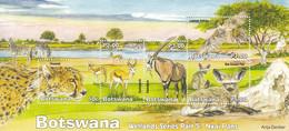 2019 Botswana Wetlands Part 5 Cheetah Falcon Cats Zebra Souvenir Sheet MNH - Botswana (1966-...)