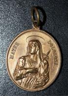 "Magnifique Pendentif Médaille Religieuse Milieu XIXe Bronze ""Mater Dolorosa / Ecce Homo"" Religious Medal - Religion & Esotericism"