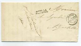 Période SARDES /  SAINT JEAN DE MAURIENNE + Contreseing L'intendant De Maurienne / 1858 - 1849-1876: Période Classique