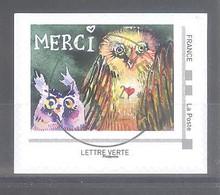 France Collector  Oblitéré  (Ecrire Christelle Guénot : Merci) (cachet Rond) - Collectors