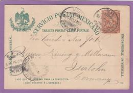 ENTIER POSTAL DE VERA CRUZ POUR ISERLOHN,ALLEMAGNE.1899. - Mexique