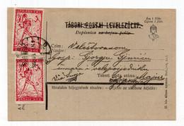 1920 KINGDOM OF SHS,CROATIA,SISAK TO MAJUR,CHAIN BREAKERS,VERIGARI,STATIONERY CARD,USED - Interi Postali