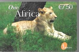 CARTE²-PREPAYEE-7.5€-ONE- AFRICA-LIONNE-31/12/2007-N° Série 12N°-4x4x4 - GRATTEE-T B E- - Giungla