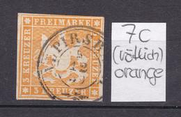 Wuerttemberg - 1857 - Michel Nr. 7 K3 ALPIRSBACH - Gestempelt - 40 Euro - Wurtemberg