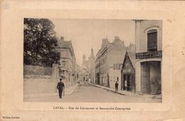 S5651 Cpa 53 Laval - Rue Du Lieutenant Et Immaculée Conception - Laval