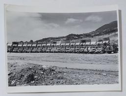 54640 Foto D'epoca 965 - Cantiere Edile Mezzi Di Lavoro Camion Ribaltabili - Automobili