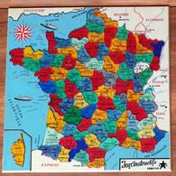 PUZZLE Départements Carte De FRANCE Jeux éducatif Instructif Création - Plastique - Vers 1960 - Puzzles