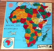PUZZLE Pays Carte D'AFRIQUE - Jeux éducatif Instructif Création - Plastique - Vers 1960 - Puzzles