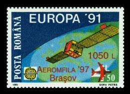 Romania 1997 Mih. 5280 Space. Europa-91. European Aerospace. Satellite Eutelsat I (overprint Aeromfila'97) MNH ** - Ungebraucht