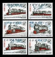 Romania 2002 Mih. 5681/86 Steam Locomotives MNH ** - Ungebraucht