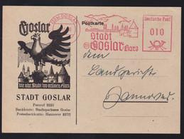 (20b) GOSLAR 7.11.50 Stadt 20b Goskar/Harz Deutsche Post 10 Auf Postkarte  - Unclassified
