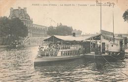 """PARIS : QUAI D'ORSAY - LE DEPART DU """"TOURISTE"""" POUR SAINT GERMAIN - Autres"""