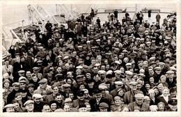 Photo Originale Exodus 1947 ? Un énorme Groupe De Voyageurs En Vue Plongée Sur Un Pont De Paquebot Vers 1940/50 - Bateaux