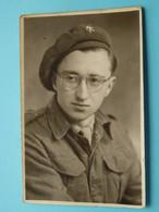 Familie DERMANT (Adrien) > Zie Fotoscans Voor Détail () Format PK + Foto Als OORLOGSVRIJWILLIGER 1944 ! - Identified Persons