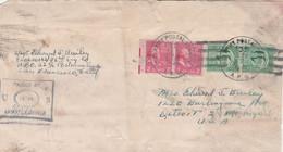 USA ETATS UNIS AFFRANCHISSEMENT COMPOSE SUR LETTRE US ARMY LUE PAR LA CENSURE US 1944 - Covers & Documents