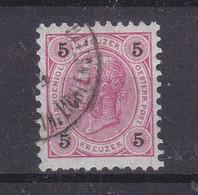 Liechtenstein - Michel 53 Oblitéré - Timbre Autrichien Avec Cachet Lichtenstein - Valeur 20 Euros - ...-1912 Prephilately