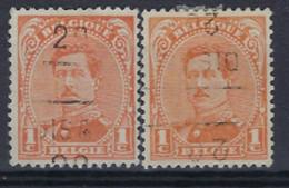 Albert I Nr. 135 Type I Voorafgestempeld Nr. 2494 C + D  DISON 20 ; Staat Zie Scan ! - Rolstempels 1920-29