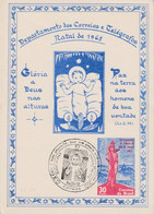 BRESIL ENTIER CARTE 1965 NOEL - Lettres & Documents
