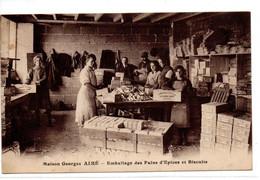 CPA  DIJON (21) - Maison Georges AIME - Emballage Des Pains D'épices Et Biscuits - Carte De Passage Du Représentant 1921 - Dijon