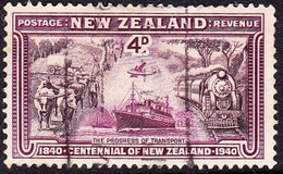 NEW ZEALAND 1940 KGVI 4d Chocolate & Lake SG619 Used - Used Stamps