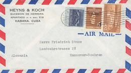 CUBA - AIR MAIL 1952 HABANA > HANNOVER/DE / QE215 - Covers & Documents