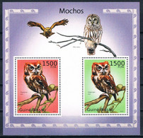 Bloc Sheet Oiseaux Hiboux Birds Owls Mochos  Neuf MNH **  Guine Bissau 2010 - Owls