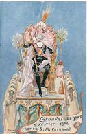 E. JARNACH - Carnaval De Nice  - 4 Février 1904  - Char De S.M. Carnaval  ( 7996 ASO) - Autres Illustrateurs