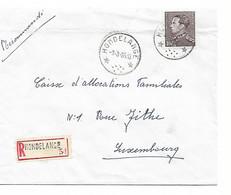 REF4882/ TP 848a Poortman S/L. Recommandée écrite De Wolkrange C.Relais-Etoile Hondelange 9/3/65 TARIF CEE > Luxembourg - Bolli A Stelle