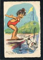 CPA - Illustration Germaine BOURET - Hé! Moumousse, Tu Votes Le Départ - Bouret, Germaine