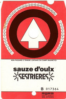 SKIPASS TESSERA GIORNALIERA SAUZE D'OULX SESTRIERES 1986 - Toegangskaarten