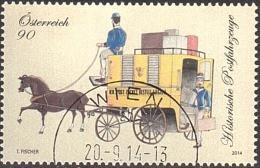 AUSTRIA ÖSTERREICH 2014 Historische Postfahrzeuge - Paketpostwagen  USED / O / GESTEMPELT - 2011-... Afgestempeld