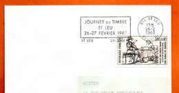 974 ST LEU  JOURNEE DU TIMBRE    ( Timbre Concordant )    1983  Lettre Entière N° MNO 242 - Mechanical Postmarks (Advertisement)
