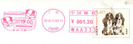China Postal Stationery,Dog Pre-stamped Cover, Dog Machine Postage Meter - Sobres