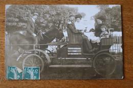Carte Photo Le Plessis Robinson  Amis Gendarme Et Sa Sa Femme  Calèche Par Photographie Du Plateau 1908 - Le Plessis Robinson