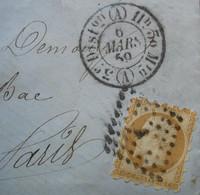 Curiosité: Piquage Style Susse Sur Lettre De 1859, Faux? Piquage Privé ? Bidouillage? A étudier De Près.. - 1849-1876: Classic Period