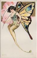 SCHMUCKER Samuel - Art Nouveau - Surréalisme - Femme Papillon - Elusoriness  ( 8015 ASO) - 1900-1949