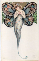 SCHMUCKER Samuel - Art Nouveau - Surréalisme - Femme Papillon - L' Envol  ( 8016 ASO) - 1900-1949