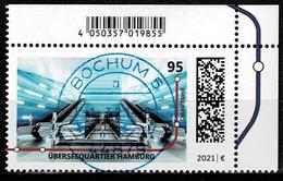 Bund 2020, Michel # 3593 O U-Bahn-Stationen: Überseequartier Hamburg Mit Ersttagsstempel - Gebruikt